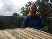 Composer Felicity Wilcox at her home in the Blue Mountains